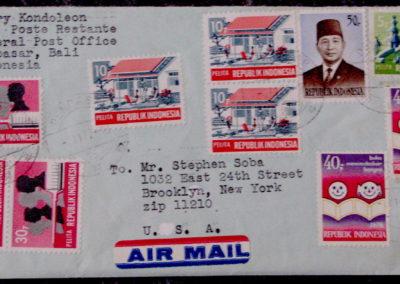 airmail envelope to soba 3
