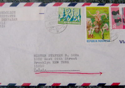 airmail envelope to soba from bali