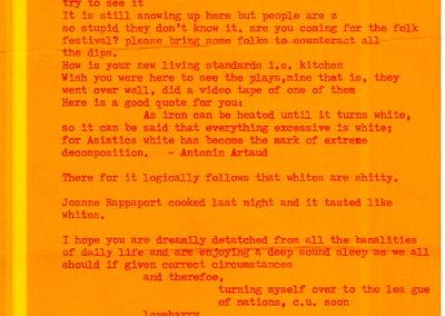 orange letter to brook